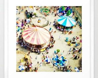 Carnival Photography // Carousel Art Print // Coney Island Photography, Nursery Decor // Carousel Photography // Kids Room Art - Carnivale