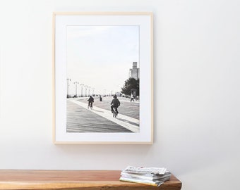 Coney Island Boardwalk Fine Art Photography // Large Framed Prints // Beach Photography Art Print // Large Wall Art