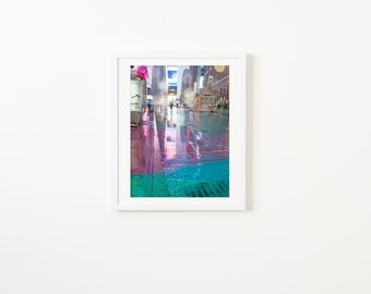 Colorful NYC Street Photography // Large Scale Wall Art Prints // New York City Street Photography // Times Square Rain