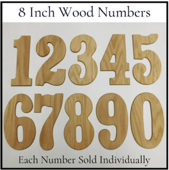 """/""""CLASSIC/"""" Font 4 Inch Wood Letters /& Numbers Individual Letter or Number"""