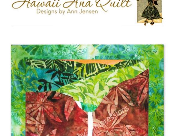Waimea Canyon Quilt Pattern Mountains Waterfall Kauai Hawaii Batik Applique