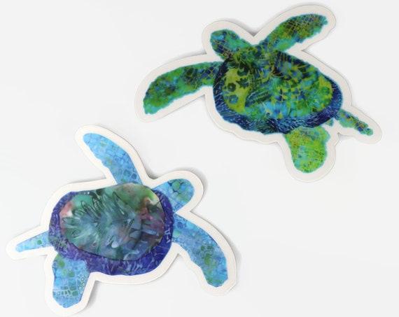 SEA TURTLE Sticker Set, Sea Turtle Car Window Sports Bottle Mug Notebook Weatherproof Decal Sticker