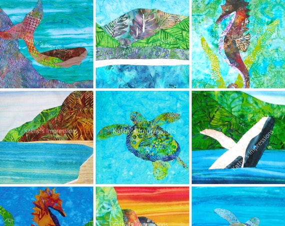 Tropical Hawaiian 100 Photo Art Prints Wholesale Closeout ~ Sea Life Beach Turtle Mermaid Seahorse Hanalei ~ 8x10, 11x14, 16x20