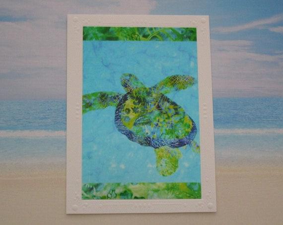 Choice of Sea Turtle Note Card, Sea Life Note Card, Beach Ocean Sea Turtle Card, Tropical Hawaiian Honu Under the Sea Note Card