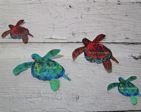 SEA TURTLE Wall Decal Sets~ Tropical Decor, Baby or Kids Room~ Removable Sticker