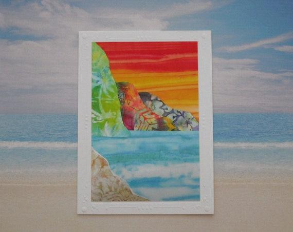 Choice of Tropical Hawaiian Beach Note Card, Beach Ocean Mountains Note Card, Kauai Na Pali Note Card, Bali Hai Note Card
