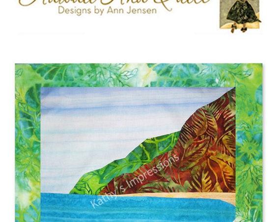 Polihale Beach Kauai Quilt Pattern Hawaii Tropical Batik Applique Mountains Ocean Sand