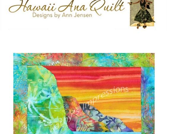 Hawaiian Beach Quilt Pattern Kauai Na Pali Coast Hawaii Batik Applique Cliffs Mountains Ocean Coastline Coastal