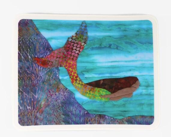 Beautiful Mermaid Sticker Hydro Flask or Car Decal~ Mermaid Swimming Beach Ocean Laptop Notebook Sport Water Bottle Cup Mug