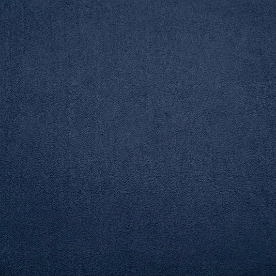 Shannon Fabrics Navy Blue Cuddle Suede Smooth Fabric By the Yard~ Blue Faux Suede Washable Fabric BTY