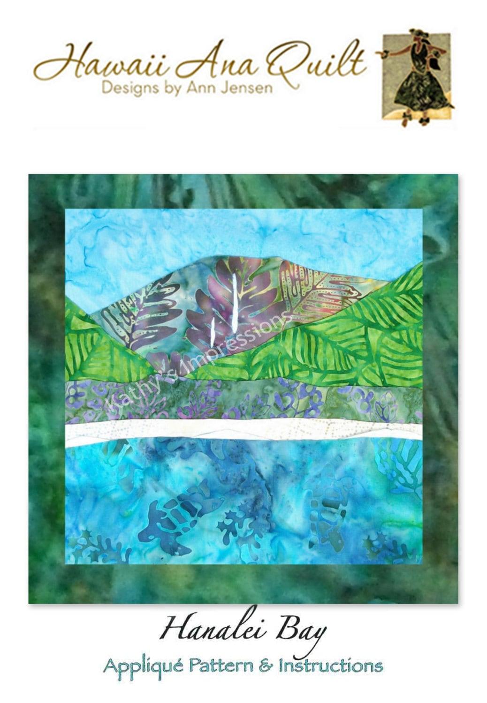 Hanalei Bay Hawaiian Beach Quilt Pattern North Shore Of