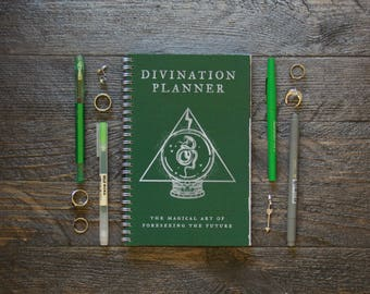Medium Weekly Planner (180-Pages)   12 Months   Green Divination Planner