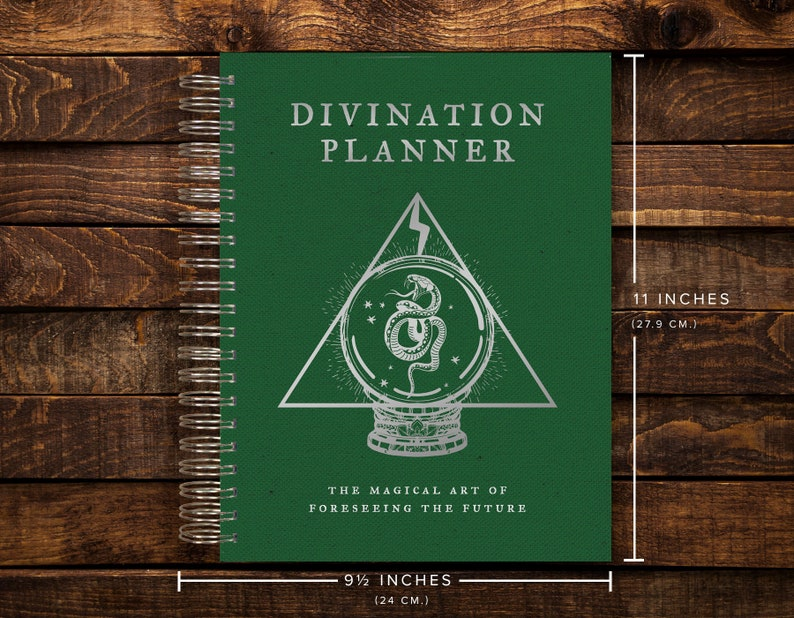 image regarding Large Daily Planner named Superior Day by day Planner / Tremendous THICK / Environmentally friendly Divination Planner / 365 Times (420 Web pages w/ Routine Trackers)