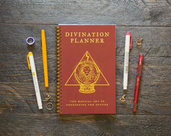 Medium Weekly Planner (180-Pages)   12 Months   Red Divination Planner