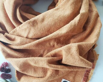Women's Plaid Scarves, Fall Scarves, Blanket Scarves, Buffalo Check Scarves, Orange Scarves, Cotton Scarves, Chunky Scarves, Women's Scarf