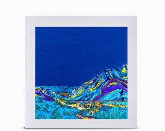 "Print: 10x10"" View of Snowbird from Alta"