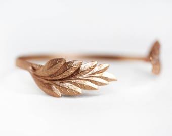 Wavy Wings Bracelet, Gold Wrap Bracelet, Bridal Jewelry, Bridesmaid Accessories, Grecian Jewelry, Greek Goddess Bracelet, Adjustable cuff