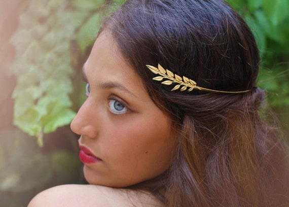 Olive Leaf Greek Goddess Headband Leaves Headband Bridal  3ddcd352a3b