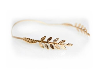 Fairy Goddess Headband, Laurel Wreath, Greek Goddess Headband, Bridal Hair Accessory, Grecian Tiara Head Piece, Roman Crown