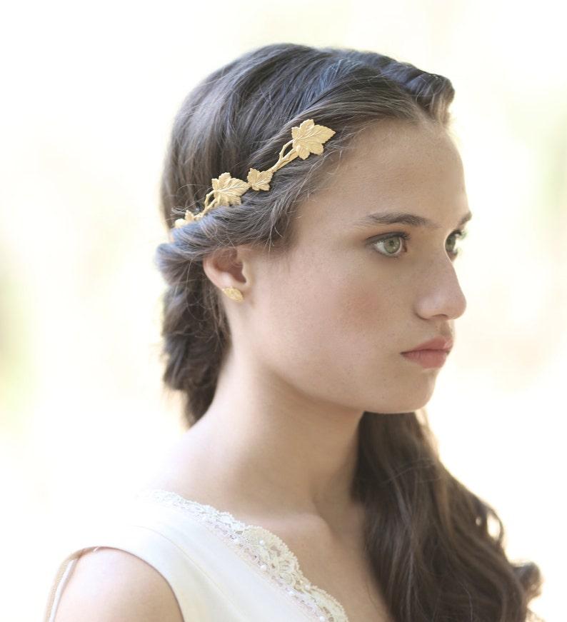 Corona de diosa griega Loraine tendencia griega hojas de  b56f764286a2