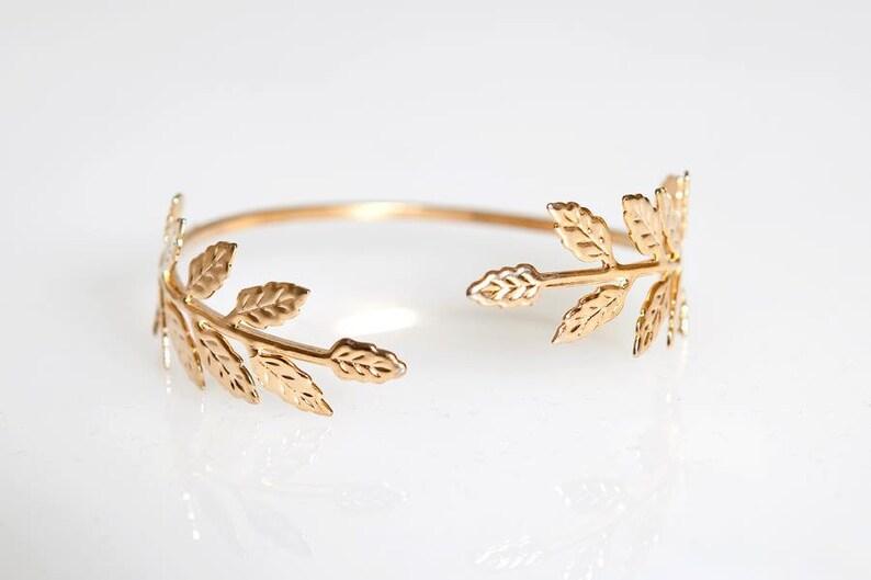Fairy Olive Leaves Bracelet Boho Laurel wreath Leaf Grecian image 0