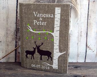 Wedding Guest Book / Wedding Book / Rustic Wedding Guest Book / Linen Guest Book / Guest Book / Note Book / Memory Book / Personalised