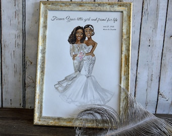 Watercolor Paintings  Bridal shower party , Bachelorette party , Bridesmaid gifts , Bridal shower gift, Wedding gifts , Bridesmaid Portraits
