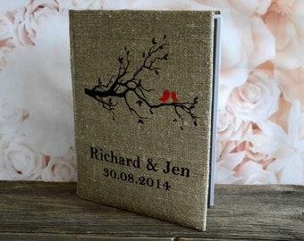 Wedding albums , Wedding photo book , Wedding photo album , Personalized albums ,  Picture album, Photobook  ,  Rustic Album Red Birds