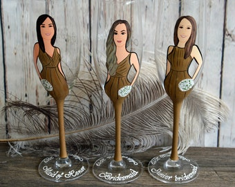 bridal shower party bachelorette party bridesmaid gifts bridal shower gift wedding party gifts bridesmaid portraits
