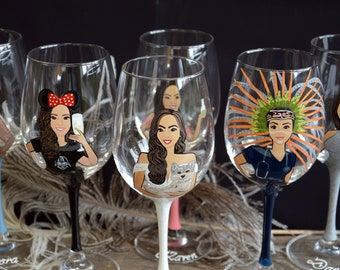 Bridal shower party , Bachelorette party , Bridesmaid gifts , Bridal shower gift, Wedding party gifts ,ONE fully customized glass