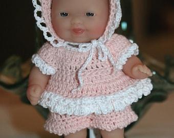 PDF PATTERN Crochet 5 inch Berenguer Baby Doll Ruffles Play Set