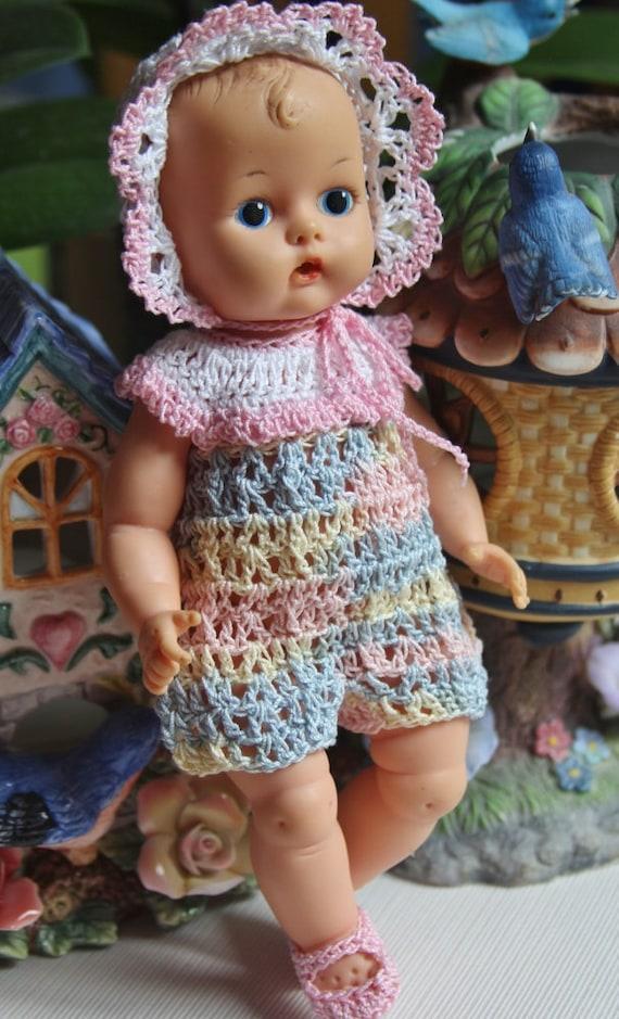 Pdf Pattern Crochet 8 Inch Vintage Doll 50 S Vogue Etsy
