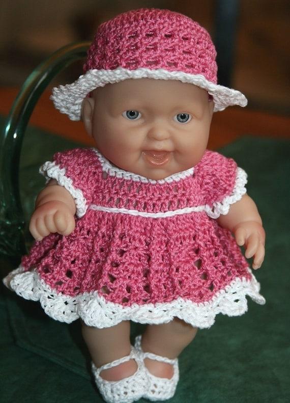 Pdf Pattern Crochet 8 Inch Berenguer Baby Doll Dress Set Etsy
