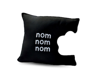 nom nom nom Pillow  Geeky Unique Funny Cushion
