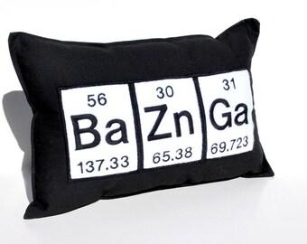 Bazinga Periodic Table Geeky Pillow