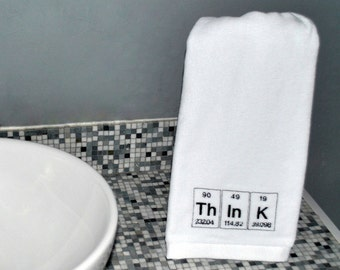 Periodic Table Towel  Science Chemistry Think Embroidered