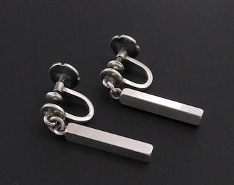Wiwen Nilsson Earrings, Modernist Silver Earrings, 930 Silver Earrings, Modernist Earrings, Scandinavian Earrings, Minimalist Earrings