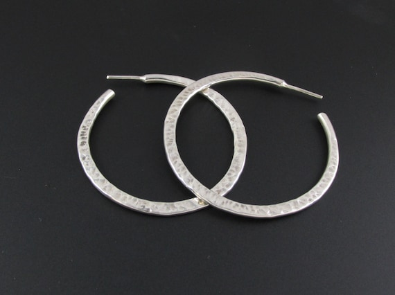 Sterling Silver Hoop Earrings, Large Hoop Earrings