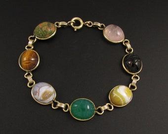 Gemstone Scarab Bracelet, Egyptian Bracelet, Egyptian Jewelry, Multi Color Bracelet, Multi Stone Bracelet