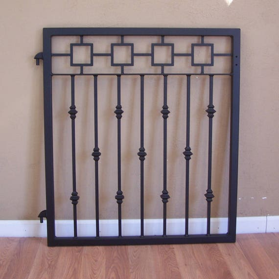 Ornamental Iron Garden Gate Metal Greek Frieze Cast Iron Collars