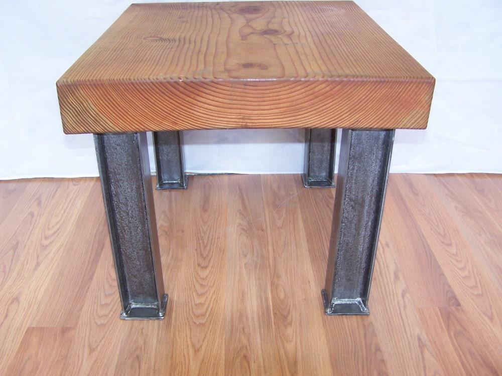 pieds de table de caf industriel moderne je poutre en acier. Black Bedroom Furniture Sets. Home Design Ideas