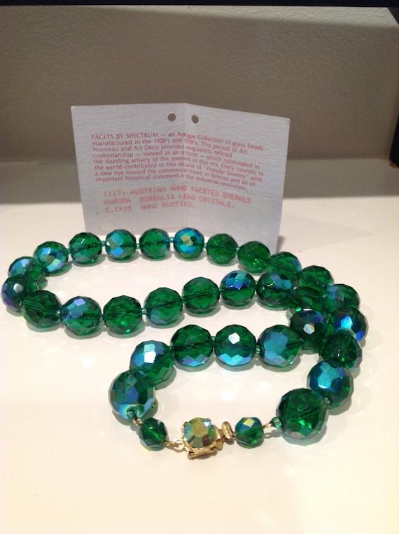 Aurora boreal is lead crystal beads Austrian