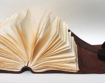 Aged Espresso - Leather Journal or Sketchbook - Handmade