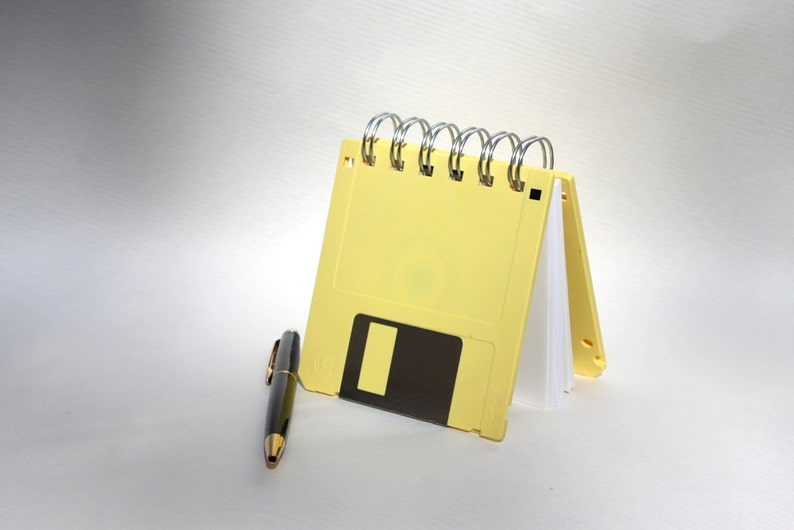 Floppy Disk Notebook  Geek Book  Recycled Computer Diskette image 0