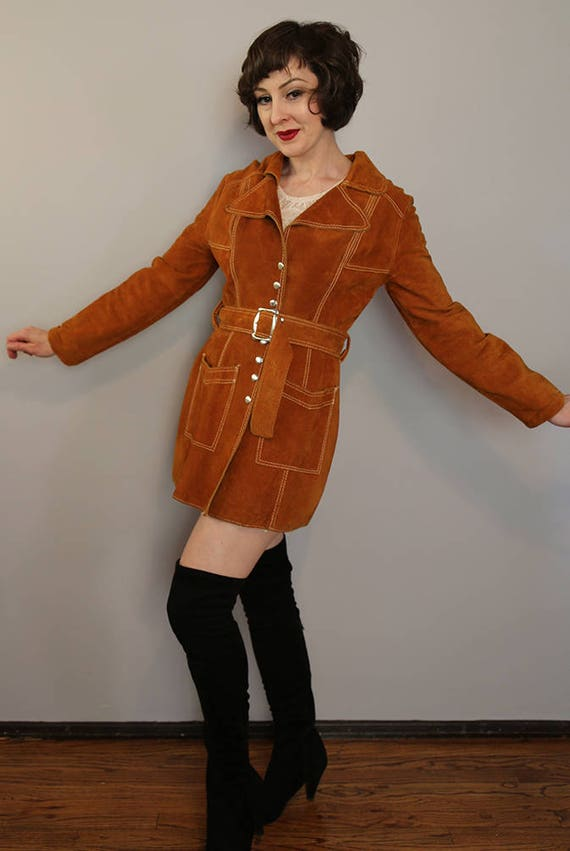 handmade VINTAGE SEVENTIES suede Mexican  jacket
