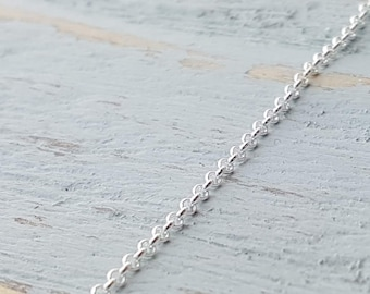 Sterling Silver Replacement Chain Necklaces - 1.5 mm Soldered Link 18 to 30 Inches - Silver Rolo Chain - 925 Sterling Silver Necklace, Chain