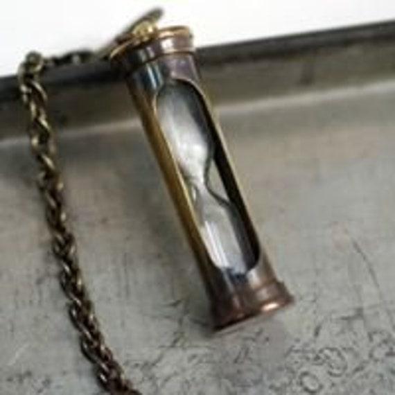 Gwendelicious Antique Brass Acorn Capsule Pendant on 24 Bronze Chain Secret Stash Necklace Fashion Jewelry