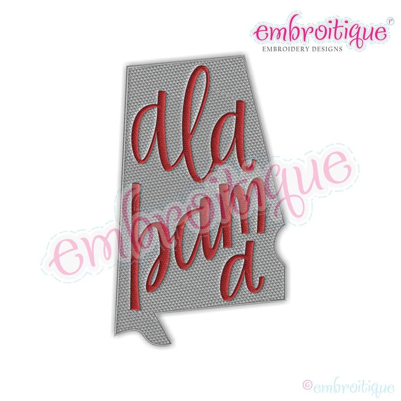 Happy Thanksgiving Yall Shell Bling >> Alabama Lettered State Shape Fill Stitch Instant Download Digital Machine Embroidery Design