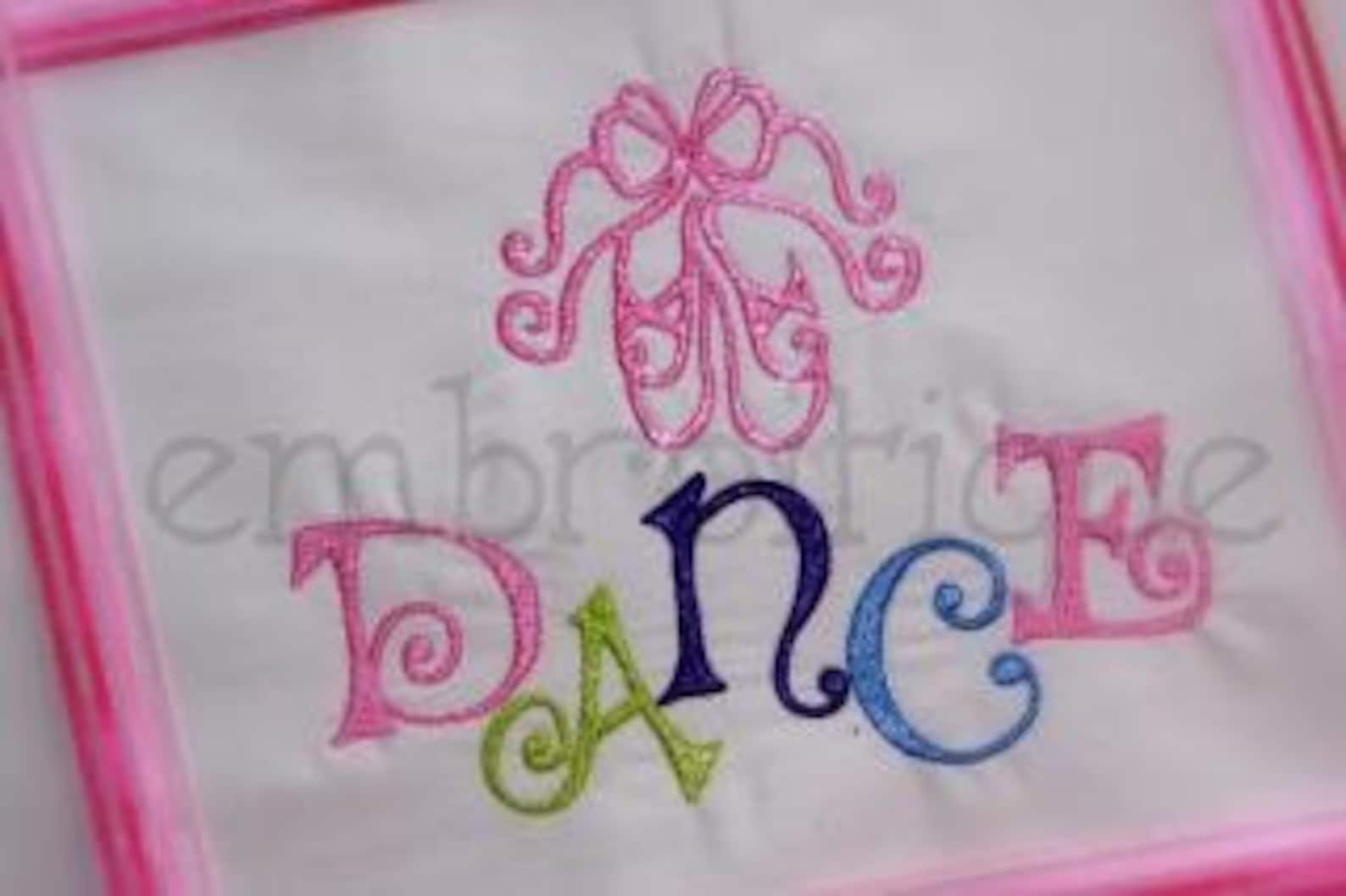 ballet shoes and dance set - 9 files included design for machine embroidery- instant email delivery download