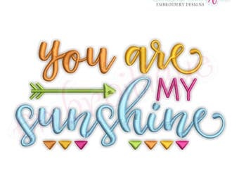 You Are My Sunshine - Nursery Decor, Baby -Instant Download Machine Embroidery Design